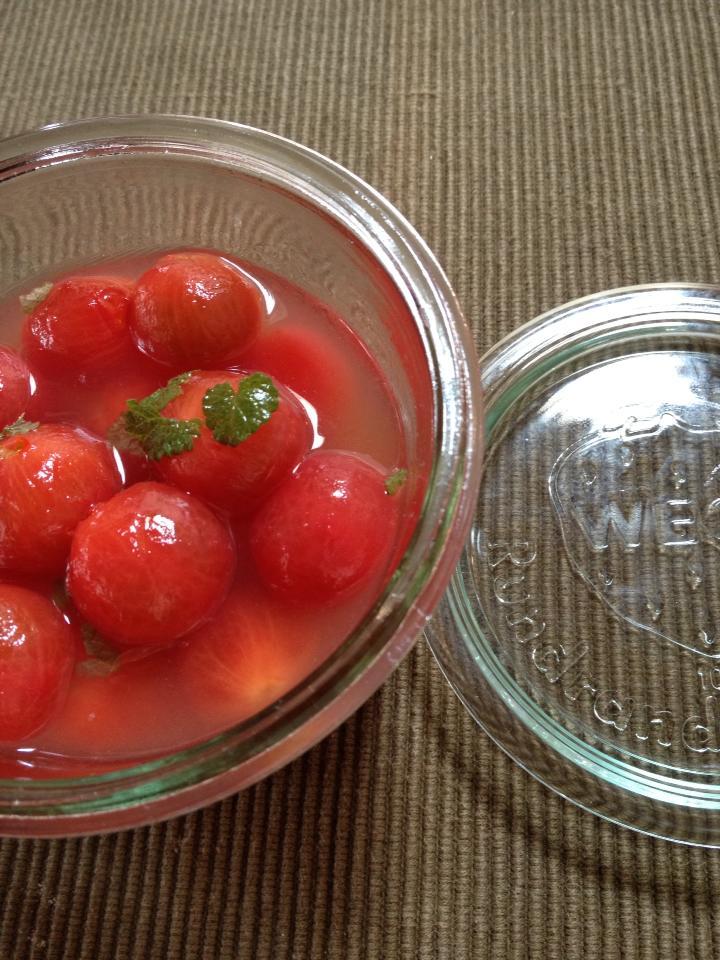 ミニトマトはちみつコンポート